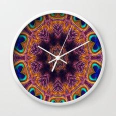 Peacock Fan Star Abstract Wall Clock