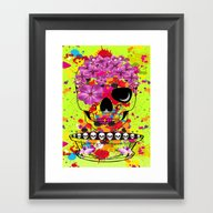 Skulls Dreams Framed Art Print
