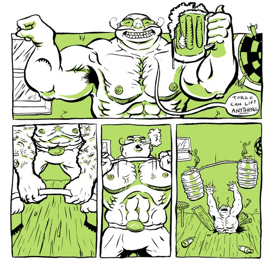 Strength Vs. Weakness Art Print