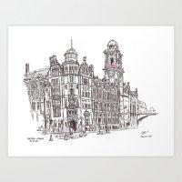 Palace Hotel, Manchester Art Print
