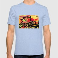 Ghost Painting Mens Fitted Tee Tri-Blue SMALL