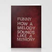 Funny How A Melody Sound… Stationery Cards