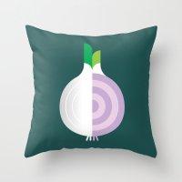 Vegetable: Onion Throw Pillow