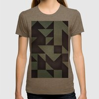 :: geometric maze VIII :: Womens Fitted Tee Tri-Coffee SMALL