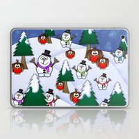 Rocking Robin In A Winter Wonderland. Laptop & iPad Skin