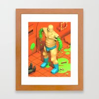 Chundermuscle Containment Breach Framed Art Print