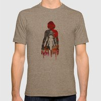 Black Widow Print Mens Fitted Tee Tri-Coffee SMALL