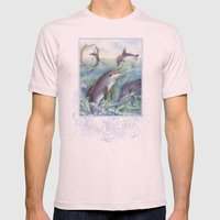Dolphins Mens Fitted Tee Light Pink SMALL