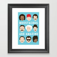 Moustaches Are Amazing Framed Art Print