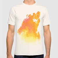Hear Me Roar! Mens Fitted Tee Natural SMALL