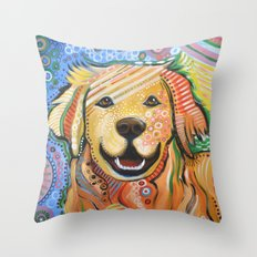 Max ... Abstract Dog Art… Throw Pillow