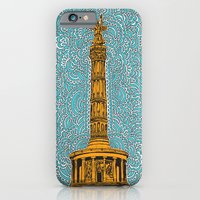 Siegessäule Drawing Meditation - Blue iPhone 6 Slim Case
