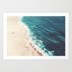 Nazare beach Art Print
