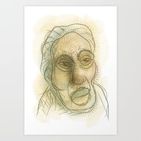 Sketch of a man Art Print