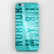 Nordurmyri Blue iPhone & iPod Skin