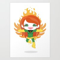 X-man Jean Grey 'Phoenix' Robotic Art Print