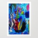 Abstract in acrylic  Art Print