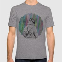 Space Finder Mens Fitted Tee Athletic Grey SMALL