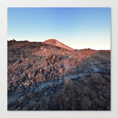 Sleepy Volcano Sunrise Canvas Print