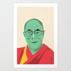 Dalai Lama Illustration Art Print