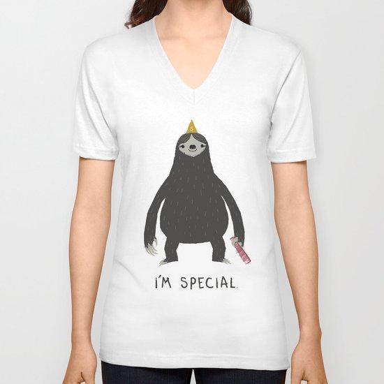 sloth V-neck T-shirt