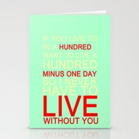 quotes Stationery Cards featuring quotes by kawaiicookie