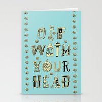 Off With Your Head Stationery Cards