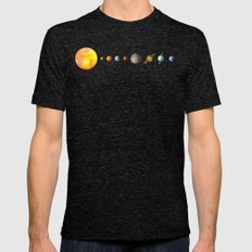 The Solar System Mens Fitted Tee Tri-Black SMALL