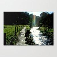 No pot of Gold but a brilliant Rainbow Canvas Print