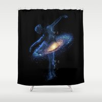 Cosmic dance Shower Curtain
