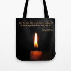 Shakespeare Candle Flame Tote Bag