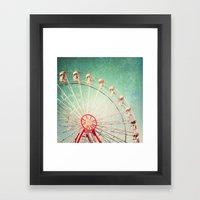 Vintage Textured Ferris Wheel Framed Art Print