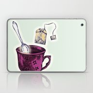 Laptop & iPad Skin featuring Just Making A Cuppa by Minniemorrisart