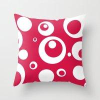 Circles Dots Bubbles :: … Throw Pillow