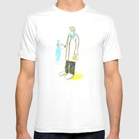 Pez Y Naranja Mens Fitted Tee White SMALL