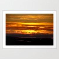 Sunset in Nemrut Art Print