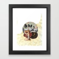 Let Me Back In Framed Art Print