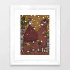Just Around the Corner Framed Art Print