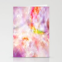 Abstract Magenta Cosmos Stationery Cards