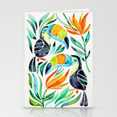 Tropical Toucans Stationery Cards