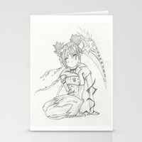 anime Stationery Cards featuring Anime by Peggy Murphy