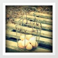 Eggs in a Basket Art Print