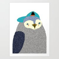 Penguin Dude, penguin art, penguin illustration, penguin, penguin print,  Art Print