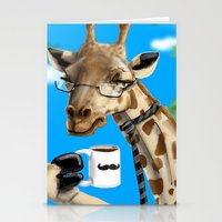All Business Giraffe Stationery Cards