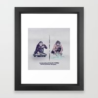 Planning For Gold In The… Framed Art Print