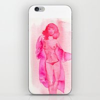 Woman In Silk Coat iPhone & iPod Skin