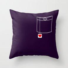 Pocket Full of Love Throw Pillow
