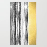 Rug featuring Blaire - Brushed Gold St… by CharlotteWinter