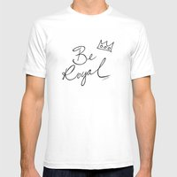 Be Royal Mens Fitted Tee White SMALL