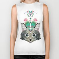cats loves birds Biker Tank